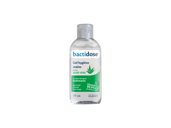 Bactidose aloe vera gel hygiène mains - 75ml