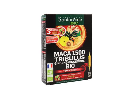 Santarome BIO Maca 1500 Tribulus Ginseng Gingembre BIO - 20 ampoules
