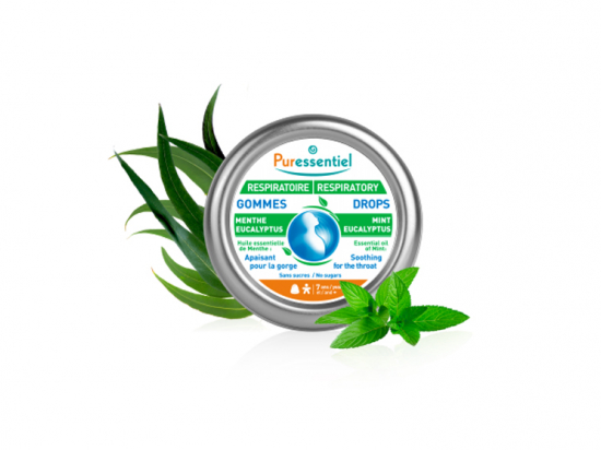 Puressentiel gommes respiratoire audoucissantes menthe eucalyptus - 45g