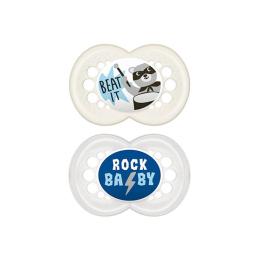 Mam Décor Sucette 18mois+ Rock'n-roll - 2 sucettes