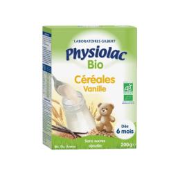 Physiolac Céréales Vanille BIO dès 6 mois -200g