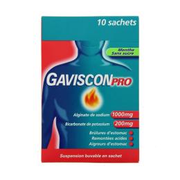 GavisconPro Menthe sans sucre - 10 sachets