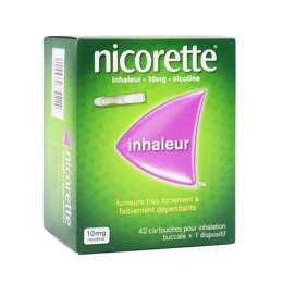Nicorette inhaleur 10mg nicotine - 42 cartouches + 1 dispositif