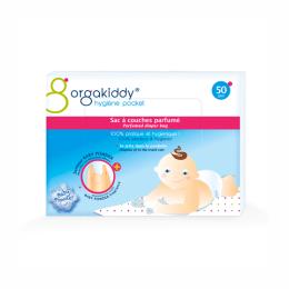 Orgakiddy Sac à couches parfumé (senteur talc) - 50 sacs