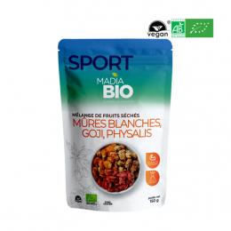 Madia BIO Super aliments mélange Goji, Physalis, Mûres blanches - 150g