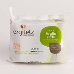Agiletz Bandes d'argile verte - 2 bandes de 5mx8,5cm