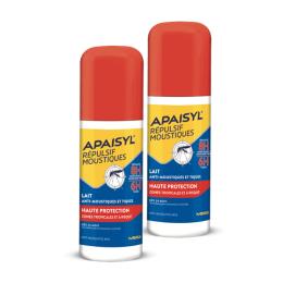 Apaisyl répulsif moustiques haute protection - 2x90ml