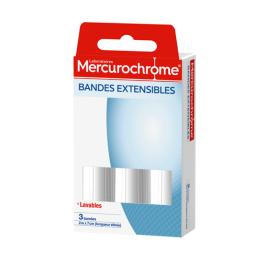 Mercurochrome bandes extensibles - 3 bandes