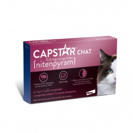 Capstar 11.4mg chats - 6 comprimés