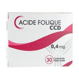 Acide folique CCD 0,4 mg - 30 comprimés