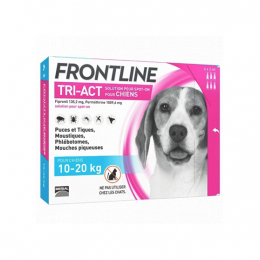 Frontline Tri-act Chien 10-20kg - 6 pipettes