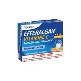 UPSA Efferalgan Vitamine C 500mg/200mg - 16 Comprimés effervescents