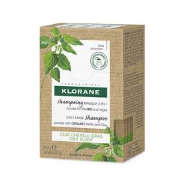 Klorane Shampoing Masque 2en1 à la Poudre d'Ortie BIO - 8 sachets