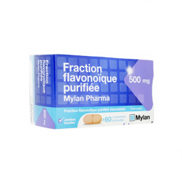 Mylan Fraction Flavonoique purifée Mylan 500mg - x60 comprimés