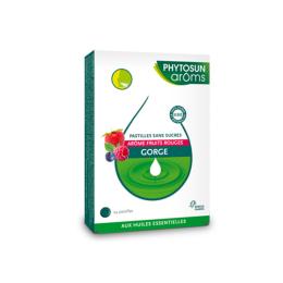 Phytosun aroms Pastilles sans sucres gorge Fruits rouges - 24 pastilles