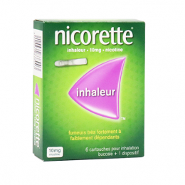 Nicorette inhaleur 10mg nicotine - 6 cartouches + 1 dispositif