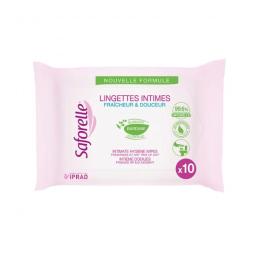 Saforelle Lingettes intimes -10 lingettes