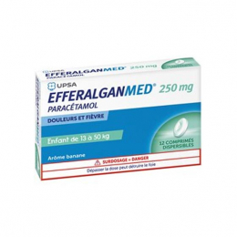 UPSA Efferalgan Med 250mg - 12 comprimés