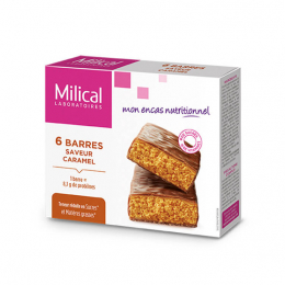 Barres hyperprotéinées saveur caramel - 6 barres
