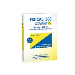 Fixical Vitamine D3 500mg - 60 comprimés