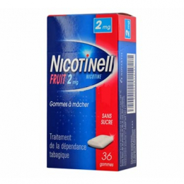 Nicotinell Fruit 2mg - 36 gommes à mâcher