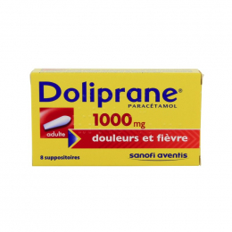 Doliprane 1000Mg 8 Suppositoires