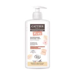 Cattier Shampooing douche Kids 2 en 1 BIO Parfum Fleur de guimauve - 500ml