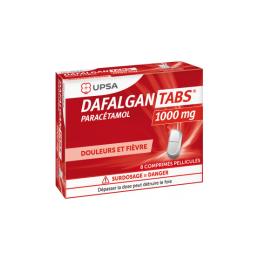 UPSA Dafalgan Tabs 1000mg - 8 comprimés pelliculés
