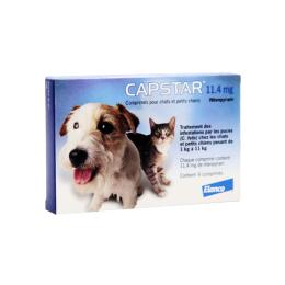Capstar 11.4mg chats et petits chiens - x6 comprimés