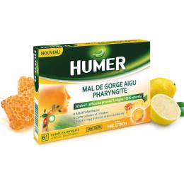 Humer Pharyngite Miel Citron - 20 pastilles