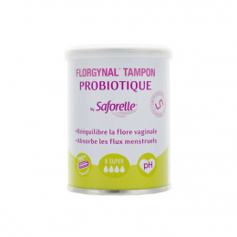 Saforelle Florgynal tampon probiotique super - x8
