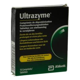 Amo ultrazyme comprimés de déprotéinisation lentilles souples 10 comprimés