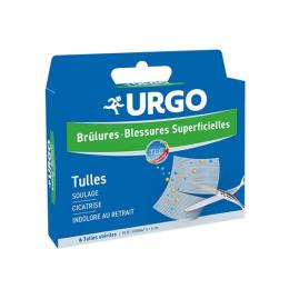 URGO Brûlures et blessures superficielles - 6 tulles stériles
