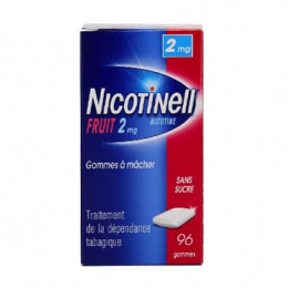 Nicotinell Gomme Fruit 2mg - 96 gommes à mâcher