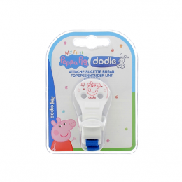 Dodie Attache sucette ruban - Peppa Pig