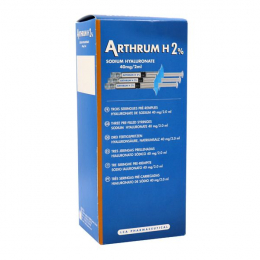 Arthrum H2% - Sodium hyaluronate - x3 seringues