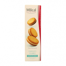 Milical biscuits fourrés saveur coco - 12 biscuits