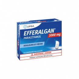 UPSA EfferalganTab paracétamol 1g - 8 comprimés pelliculés