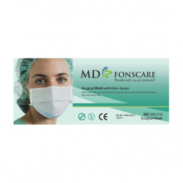 MD Fonscare Masque chirurgical Haute filtration à fixations auriculaires - 50 masques
