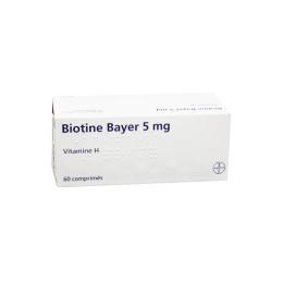 Biotine 5mg  chute de cheveux - 60 comprimés