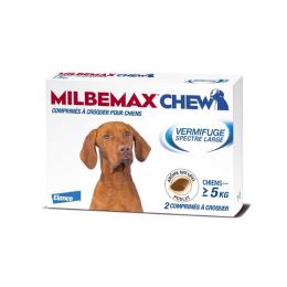 Milbemax Chew Chiens de 5kg et plus - 2 comprimés