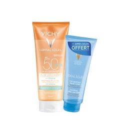 Vichy soleil SPF50+  Gel de lait  + lait après soleil OFFERT