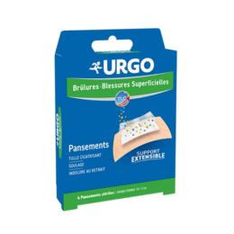 URGO Brûlures et Blessures Superficielles - 4 pansements stériles