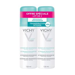 Vichy déodorant anti-transpirant  transpiration intense 48h - 2x125ml