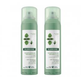 Klorane shampooing sec à l'ortie cheveux gras - 2x150ml