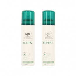 Roc keops spray déodorant sec 24h - 2x150ml