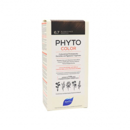 Phyto color Kit de coloration permanente 6.7 blond foncé marron