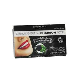Innovatouch cosmetic Chewing-gum au charbon actif - 12 dragées