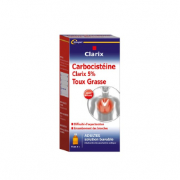 Clarix Expectorant Carbocisteine 5% Adultes Sans Sucre - 250ml