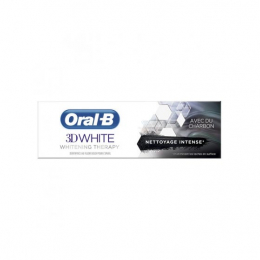 Oral B Dentifrice 3D White Charbon - 75ml